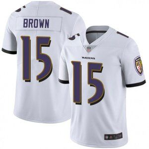 Ravens Marquise Brown White Jersey